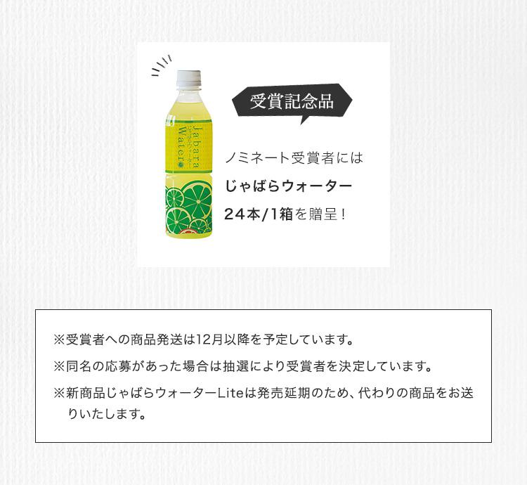 選考結果ノミネート賞2受賞商品