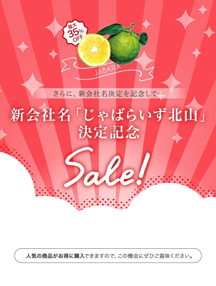 新会社名決定記念SALE
