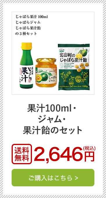 果汁100ml・ジャム・果汁飴のセット