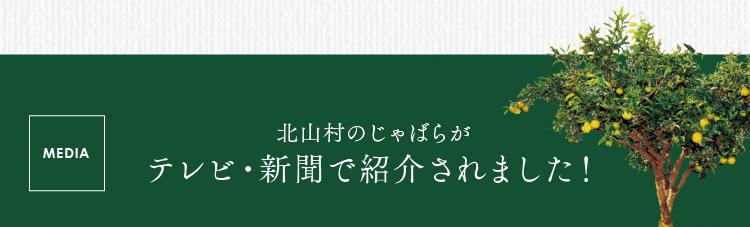 北山村のじゃばらがテレビ・新聞で紹介されました
